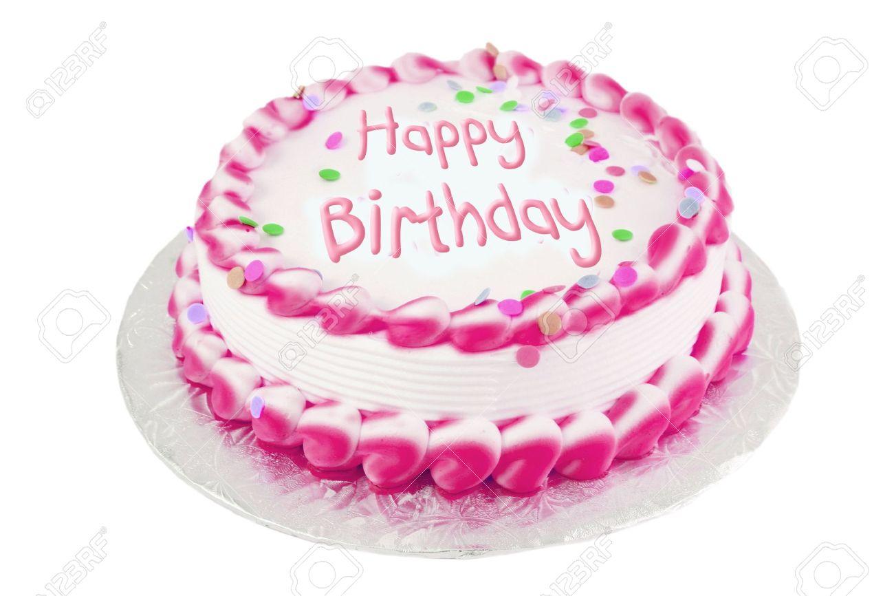 Decore Gateau Rose Givre Happy Birthday Banque D Images Et Photos