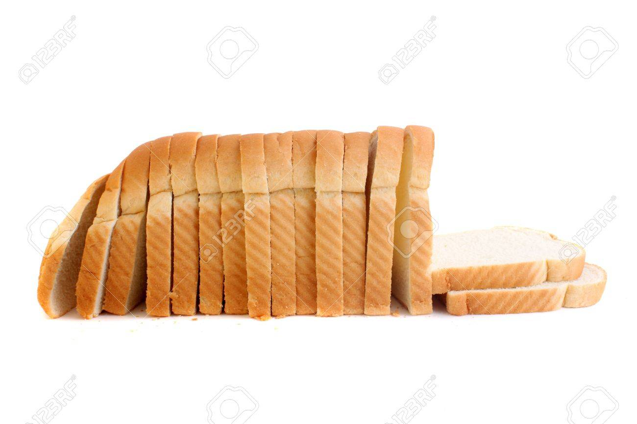 White Bread Loaf a Loaf of Baked White Bread