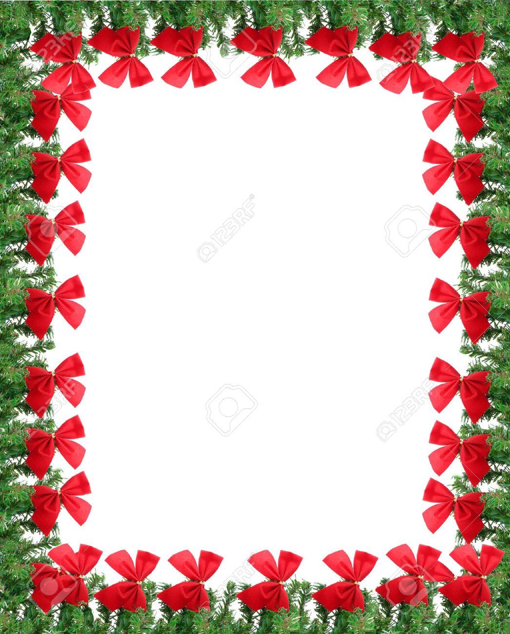 Inclina De Navidad De Ramas De Pino Verde Y Rojo. Ideal Para Una ...