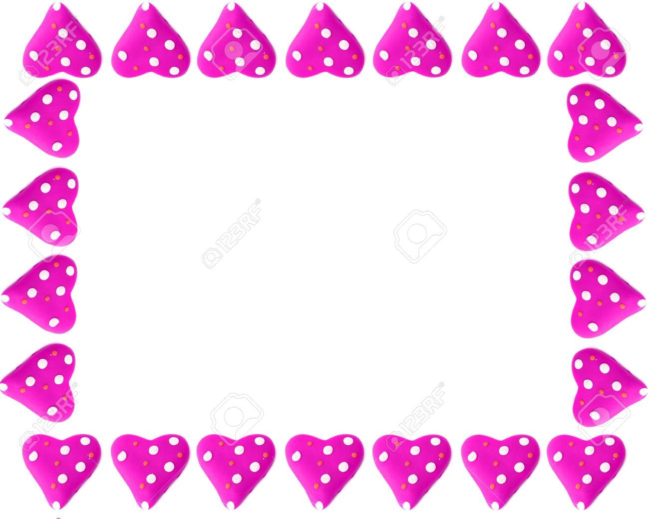 Rosa Corazones De Amor De San Valentín En La Forma De Un Marco, O La ...