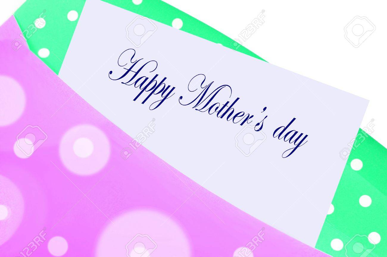 Happy Mother s Day Greeting Card Note Letter In Pink And