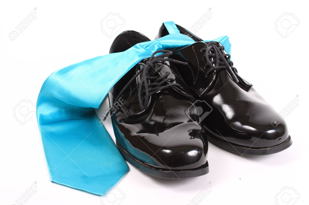 Mens Shiny Lace Up Formal Black Shoes