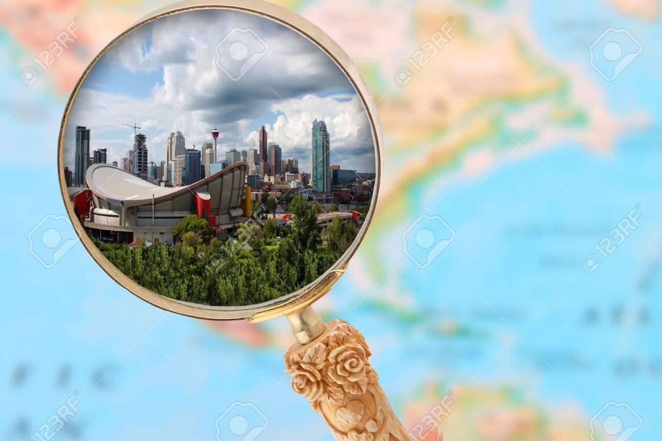 Calgary Alberta Map on