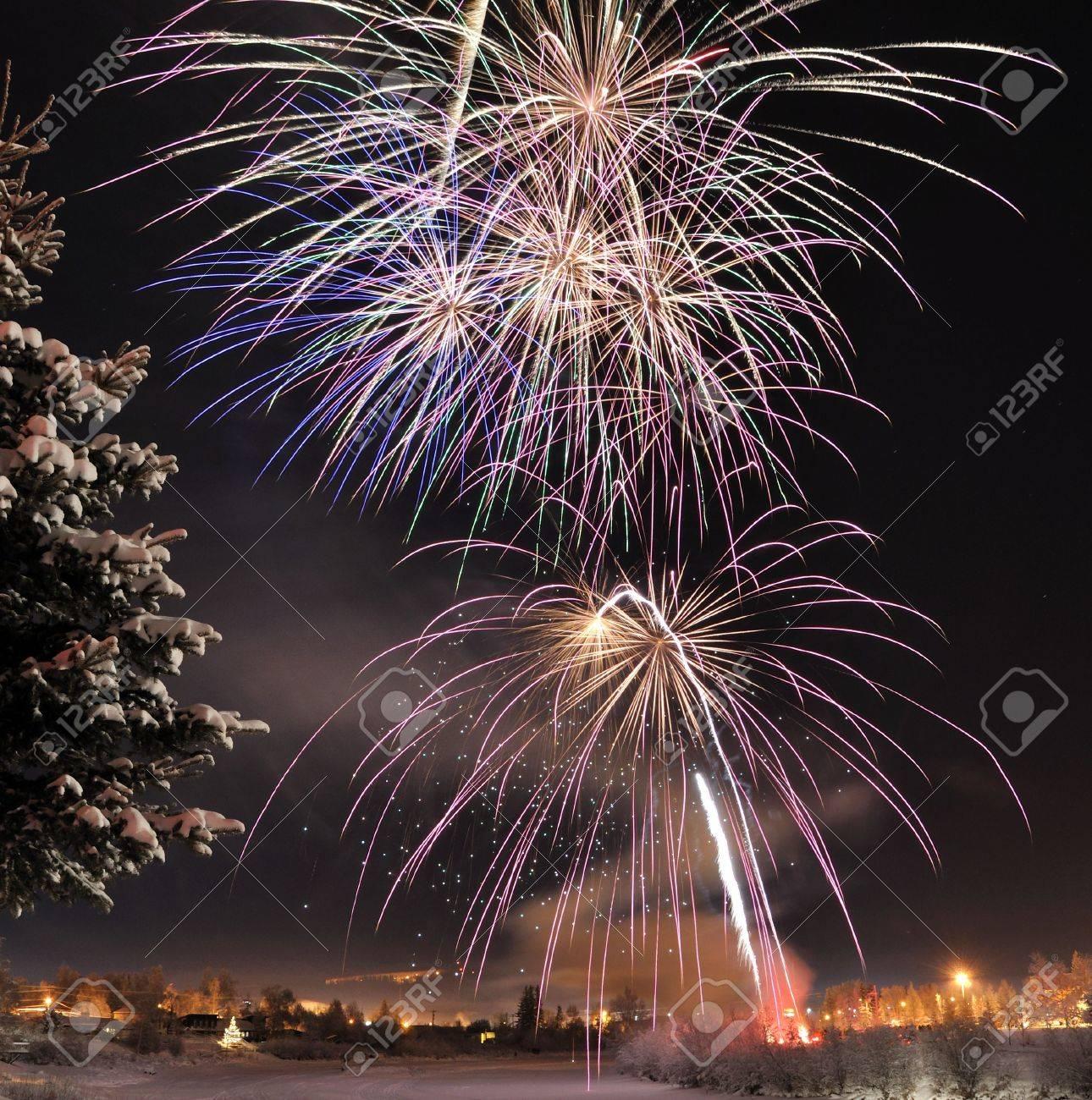 Arctic Solstice Fireworks Stock Photo - 7626625