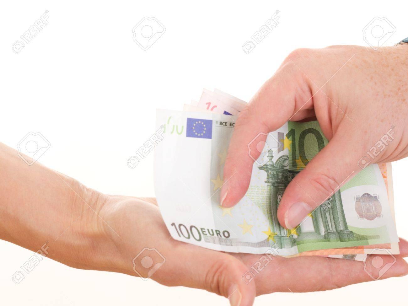 Giving somebody money Stock Photo - 16318192