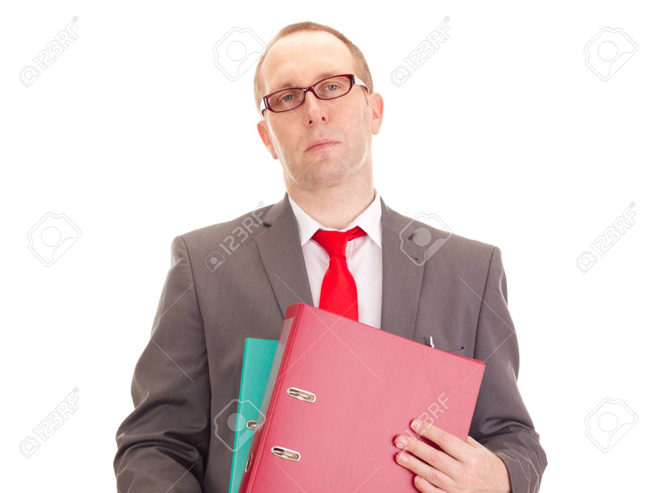 Businessman with ring binder Stock Photo - 16567541