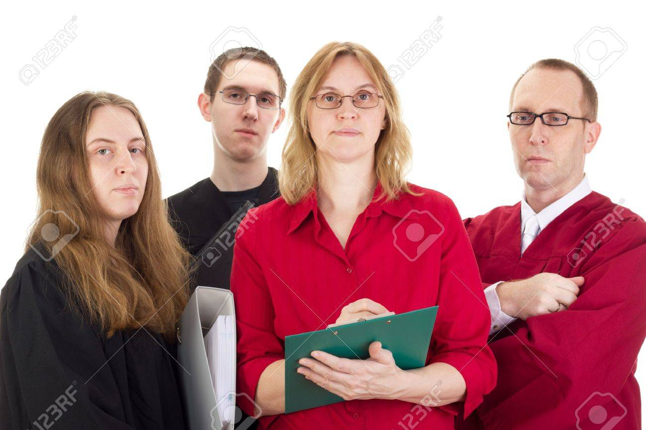 Conducting a lawsuit Stock Photo - 17278351