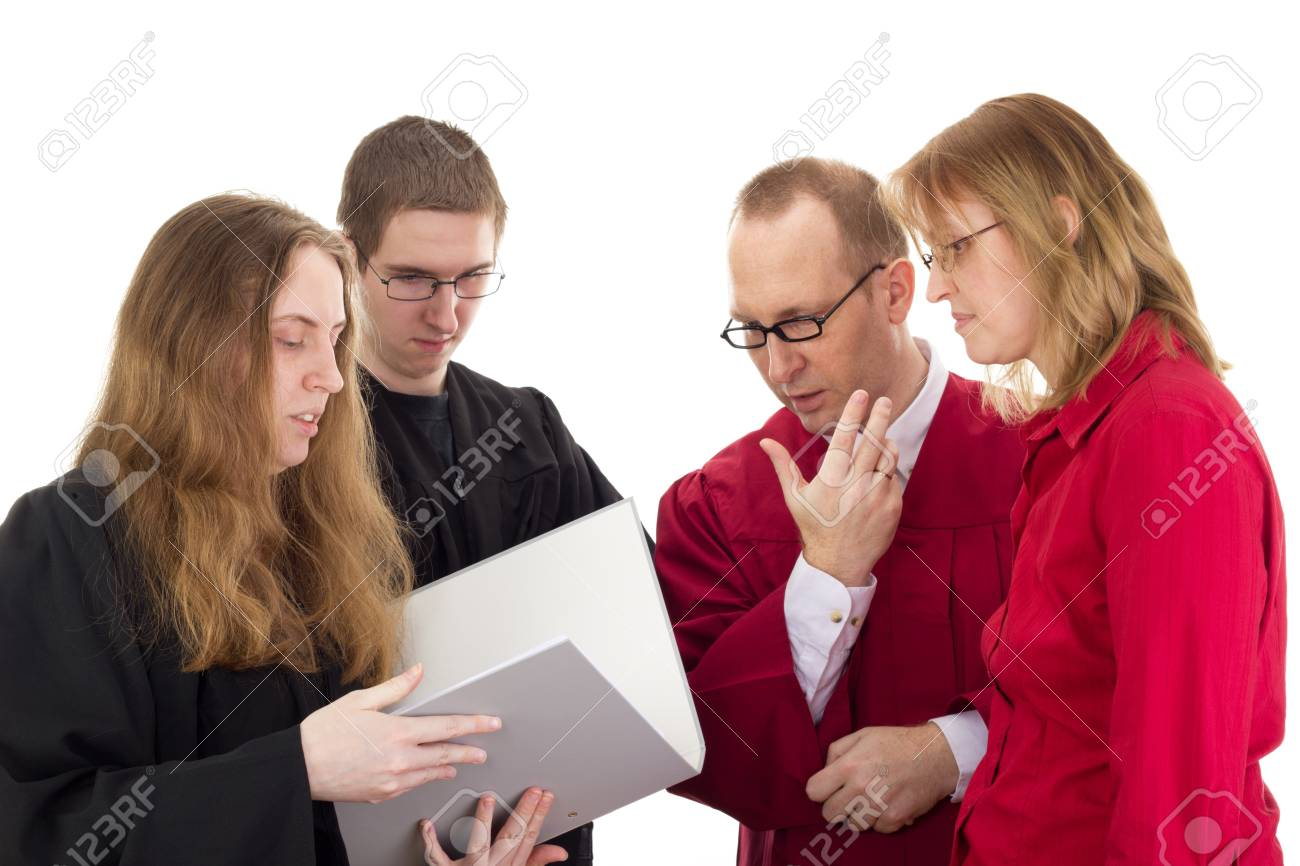 Conducting a lawsuit Stock Photo - 17278350