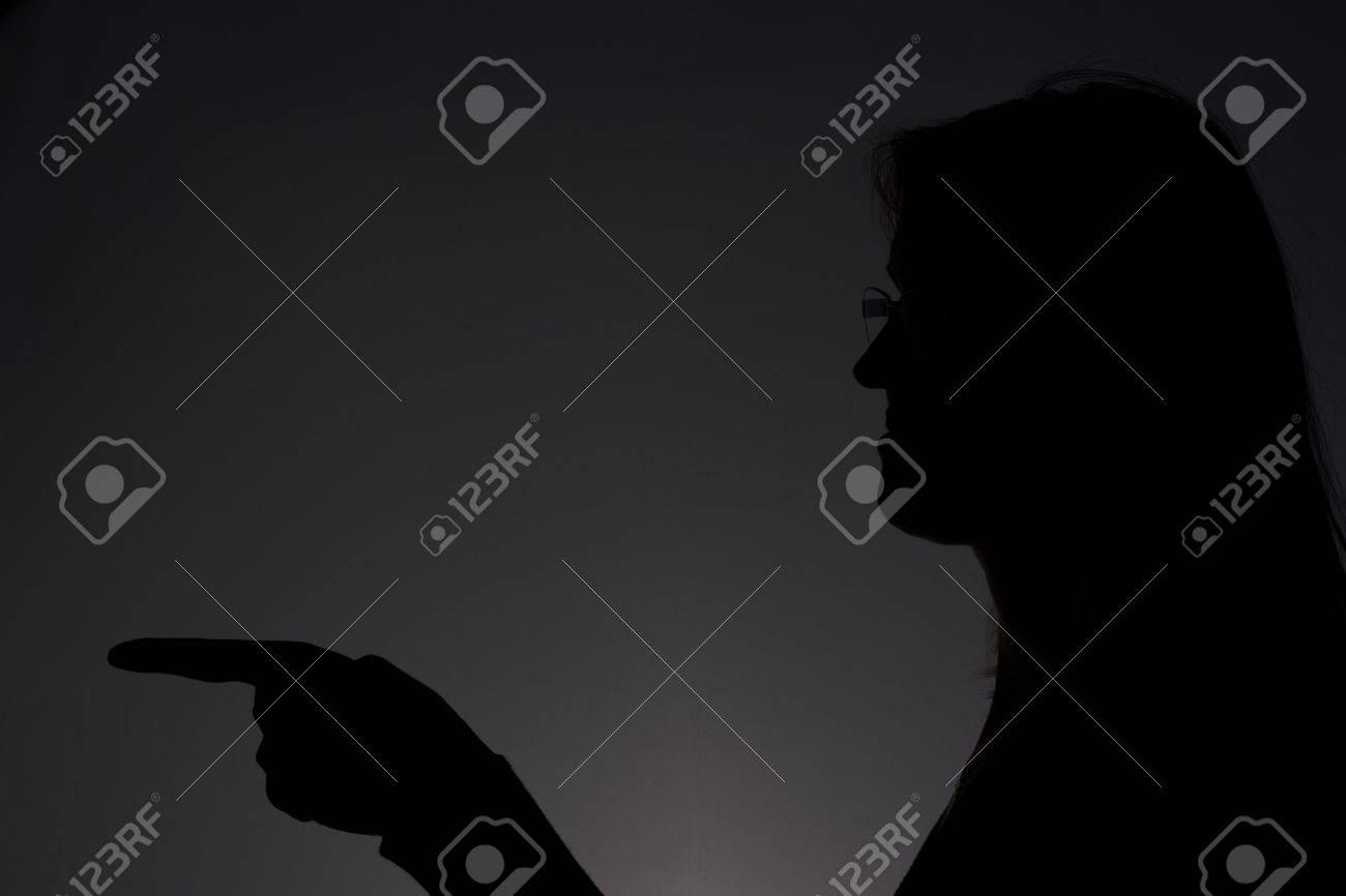 Woman showing something Stock Photo - 17793636