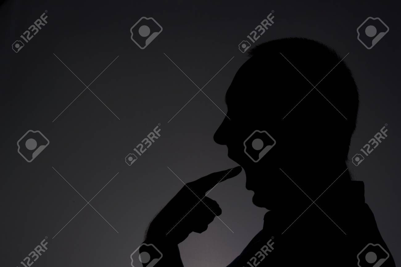 Man in the darkness Stock Photo - 17793635