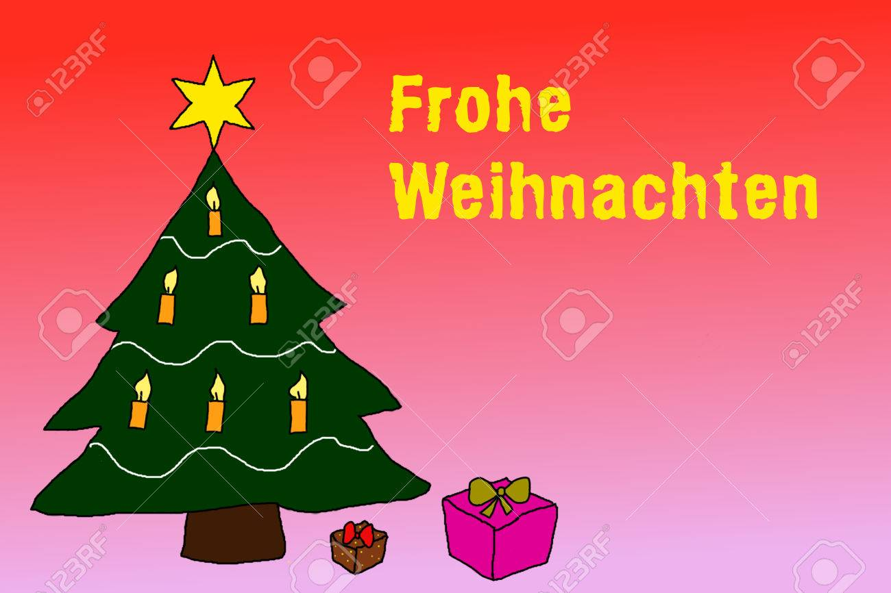 How Do You Say Merry Christmas In German.Stock Illustration