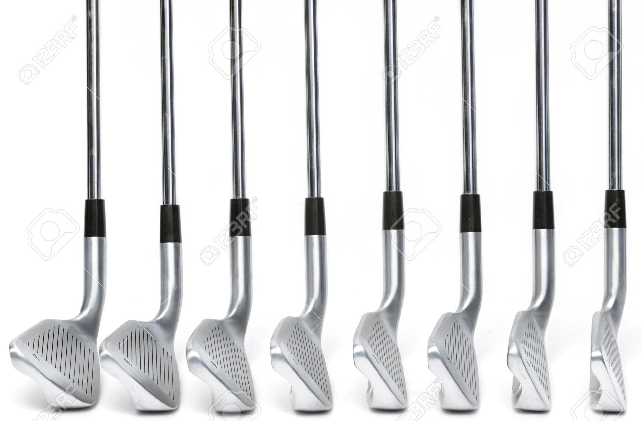 Golf Clubs On White Background Classic Blade Irons Stock Photo Picture And Royalty Free Image Image 16148777