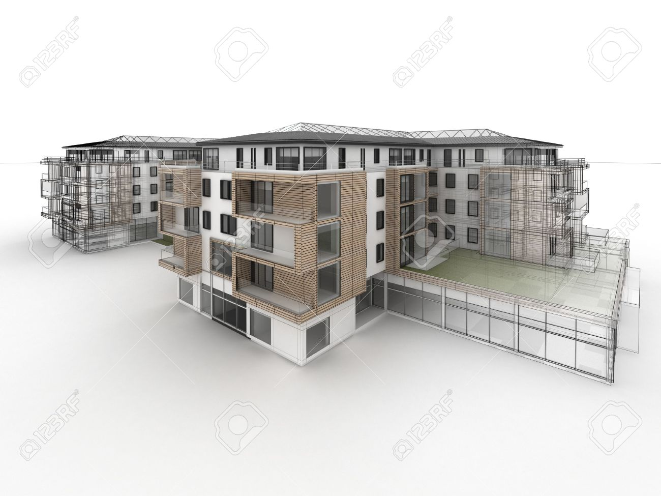 Apartment Building Design Drawing