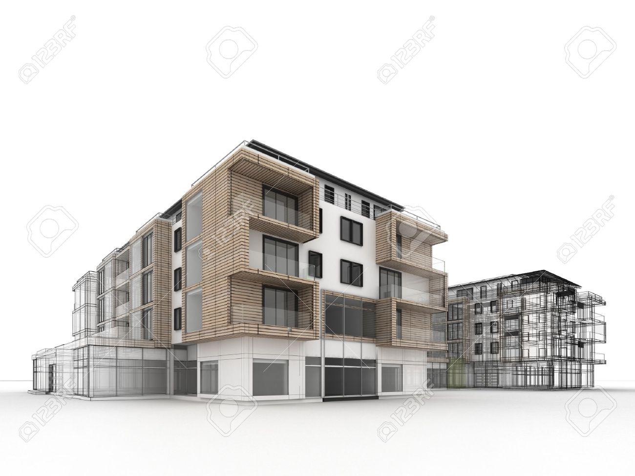 Extrêmement Progrès Conception Immeuble D'appartements, De Visualisation  NA39