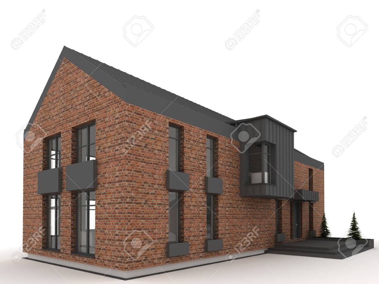Zeitgenössische Architektur, Architekt S Projekt Wohnhaus ...