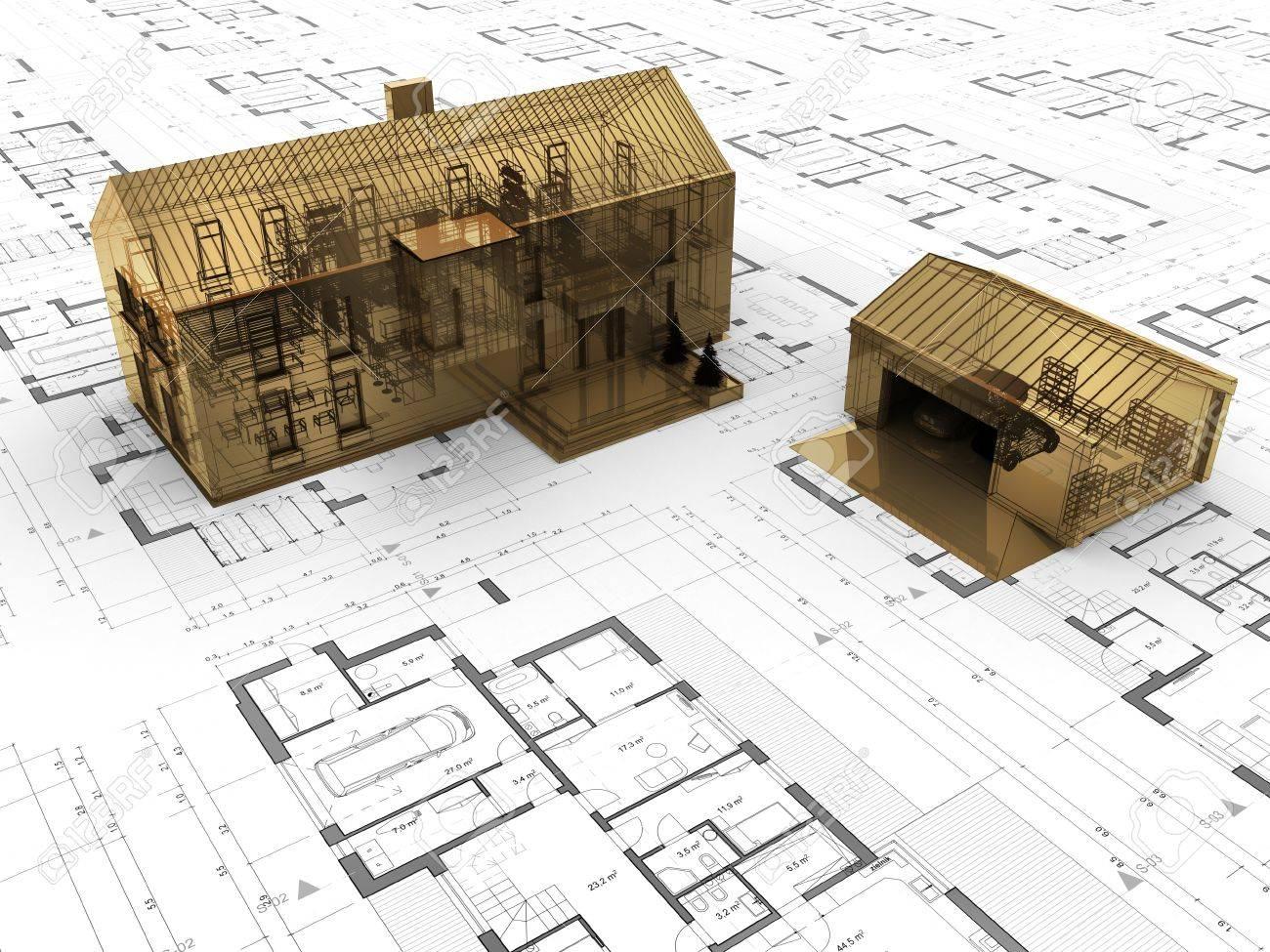 Precious House Design Concept Gold Building Valuable