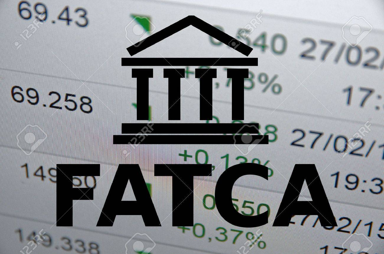 FATCA Foreign Account Tax Compliance Act. Concept with building icon. - 40300377