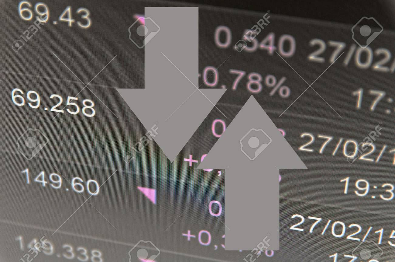 Financial concept. Trading software window on PC screen, close-up. - 42563596