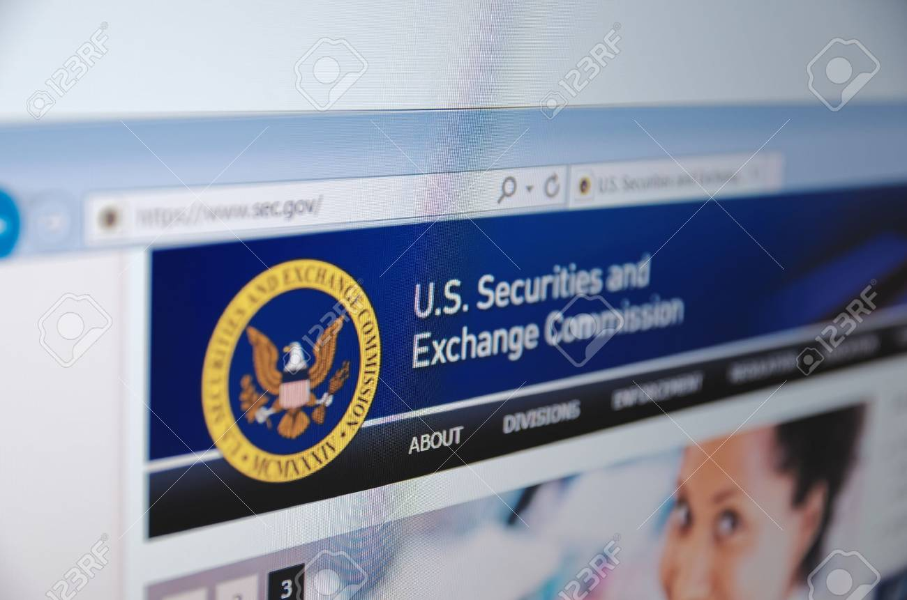 Saransk, Russia - November 04, 2015: U.S. Securities and Exchange Commission main page on its web site in Saransk, Russia, on November 04 2015. Selective focus. - 57704685