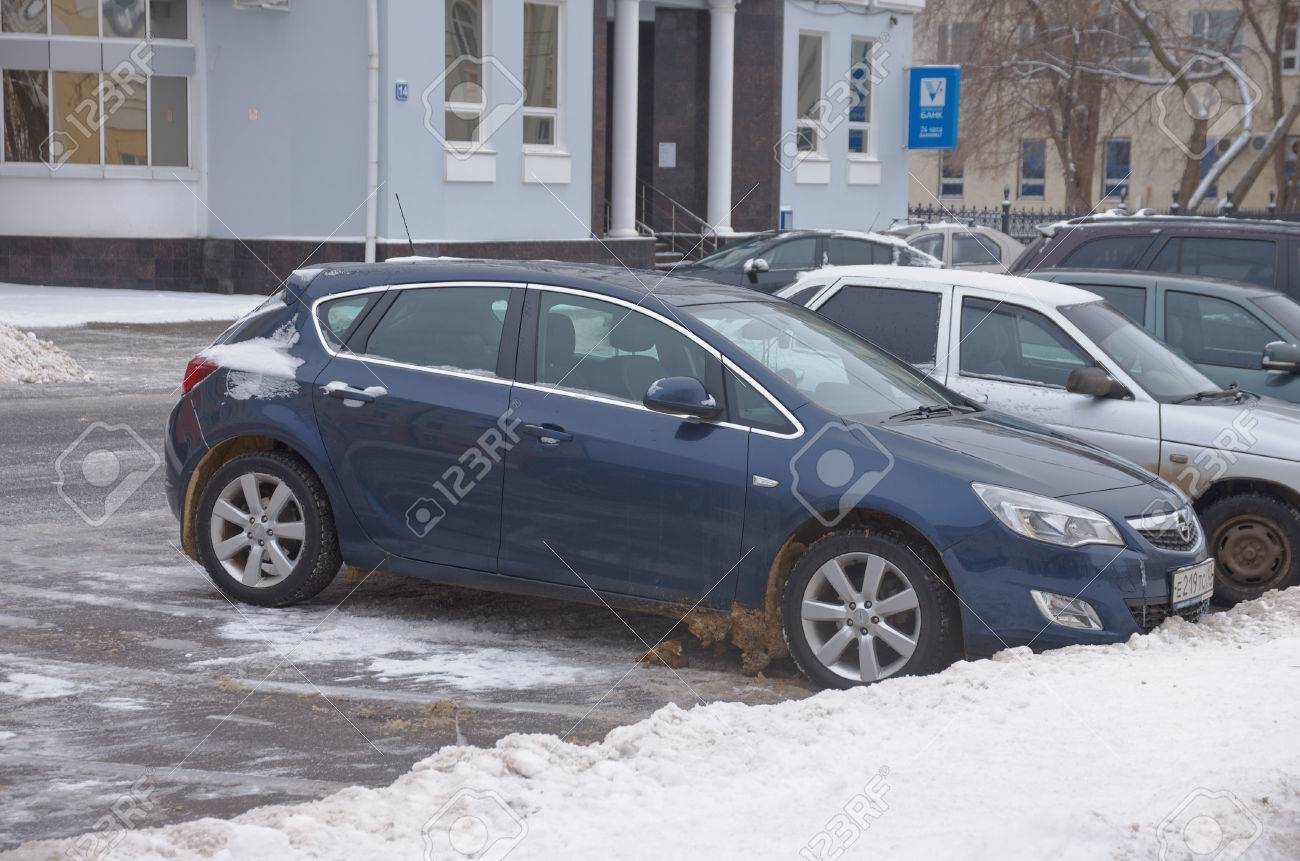 Saransk Russia January 6 2017 Opel Astra J Parked On City Stock Photo Picture And Royalty Free Image Image 68684757
