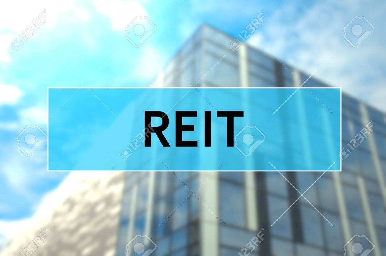 REIT written on translucent blue space. - 80818666