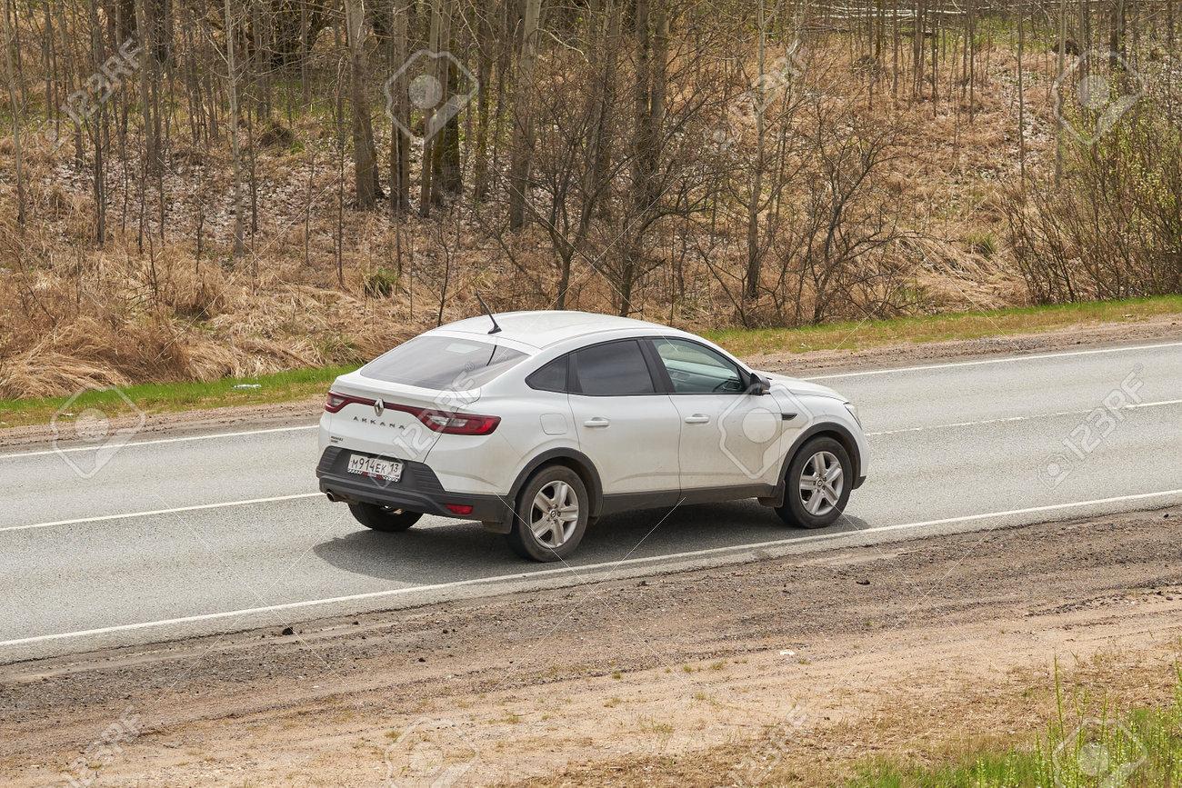 Ruzayevsky District, Mordovia, Russia - May 08, 2021: The Renault Arkana on the intercity road. - 172016561