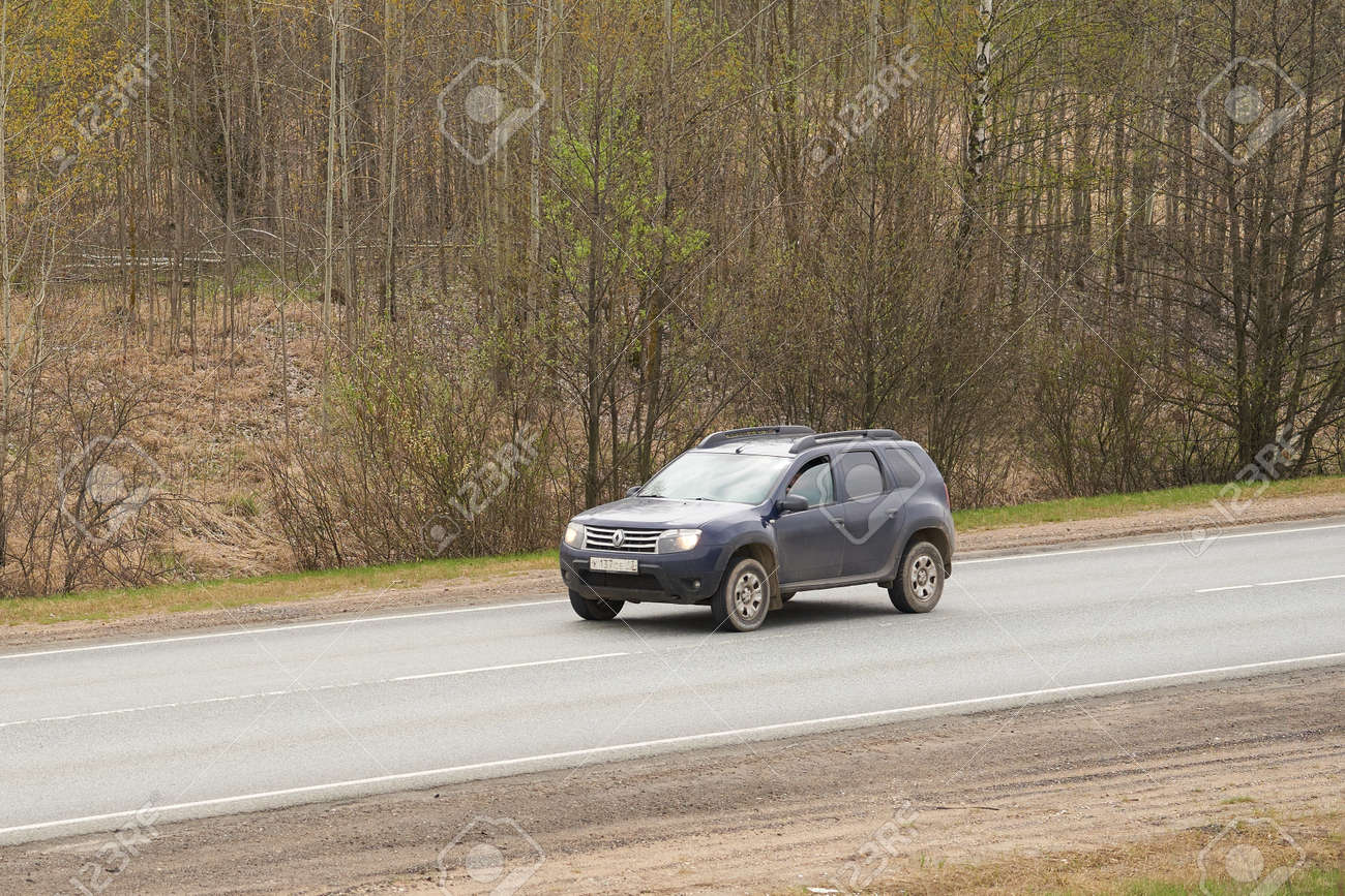 Ruzayevsky District, Mordovia, Russia - May 08, 2021: The Renault Duster on the intercity road. - 172015699