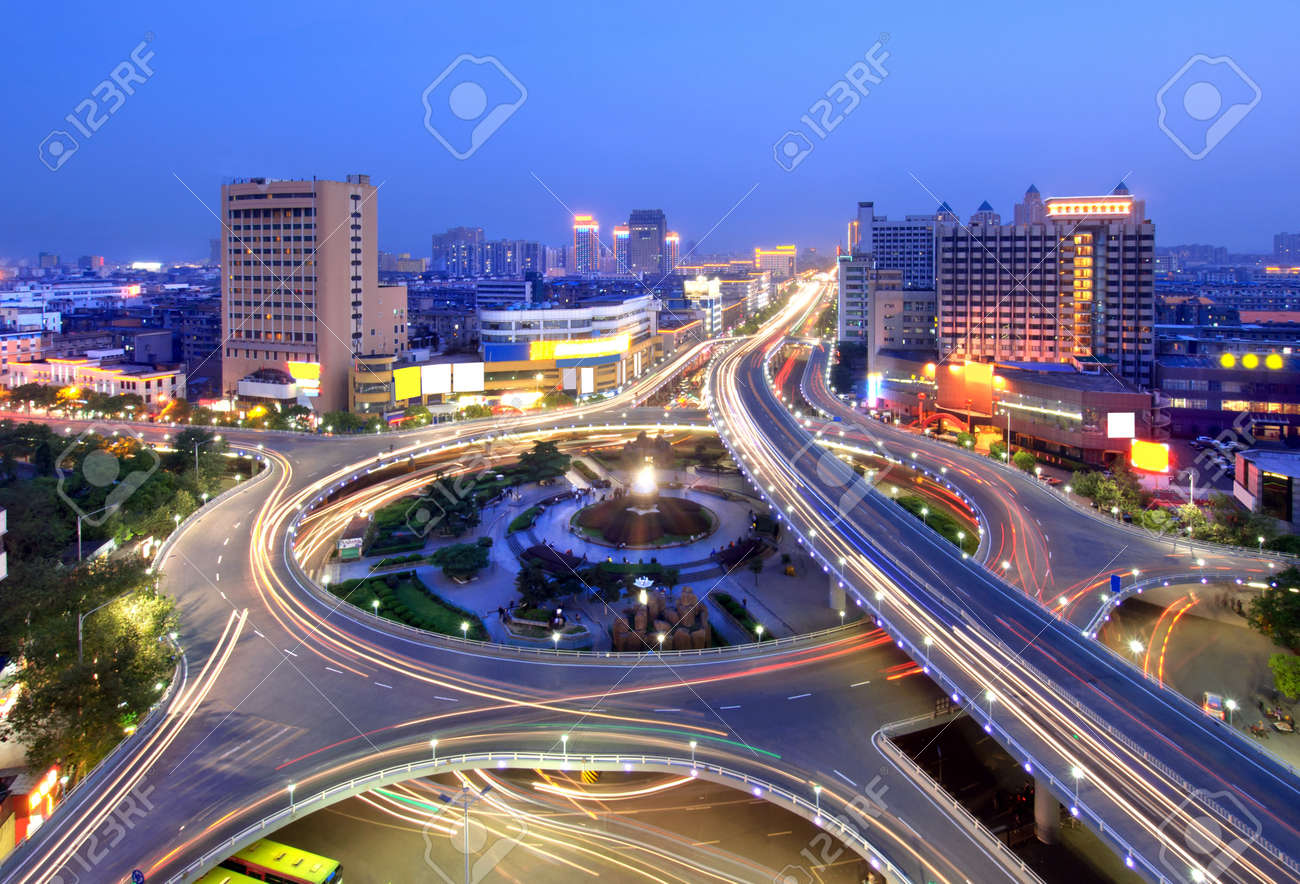 City Scape of the nanchang china. Stock Photo - 9803347
