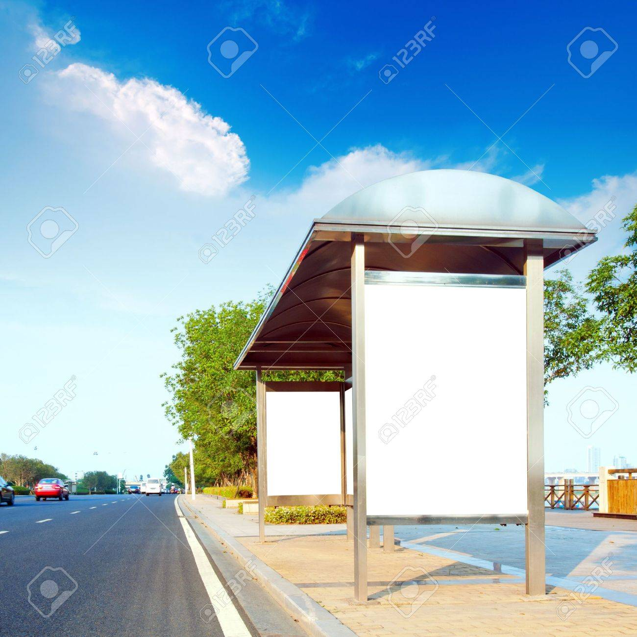 This is for advertisers to place ad copy samples on a bus shelter Stock Photo - 10874319