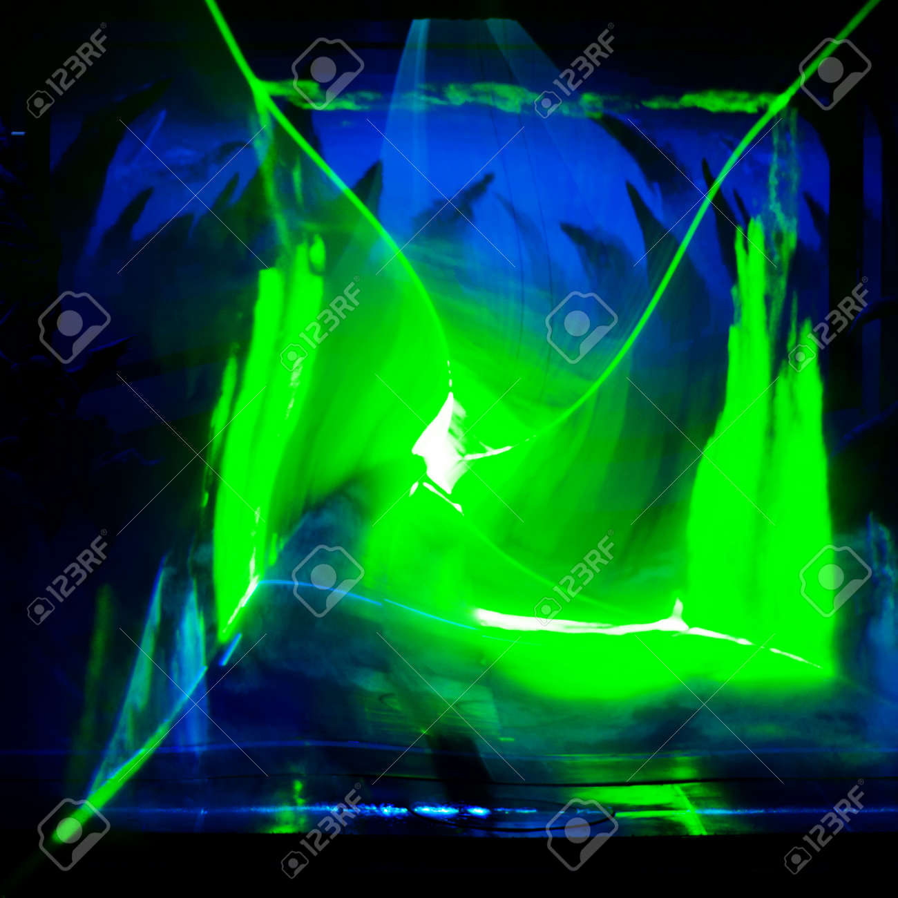 banner neon light stage background for your text Stock Photo - 10874183