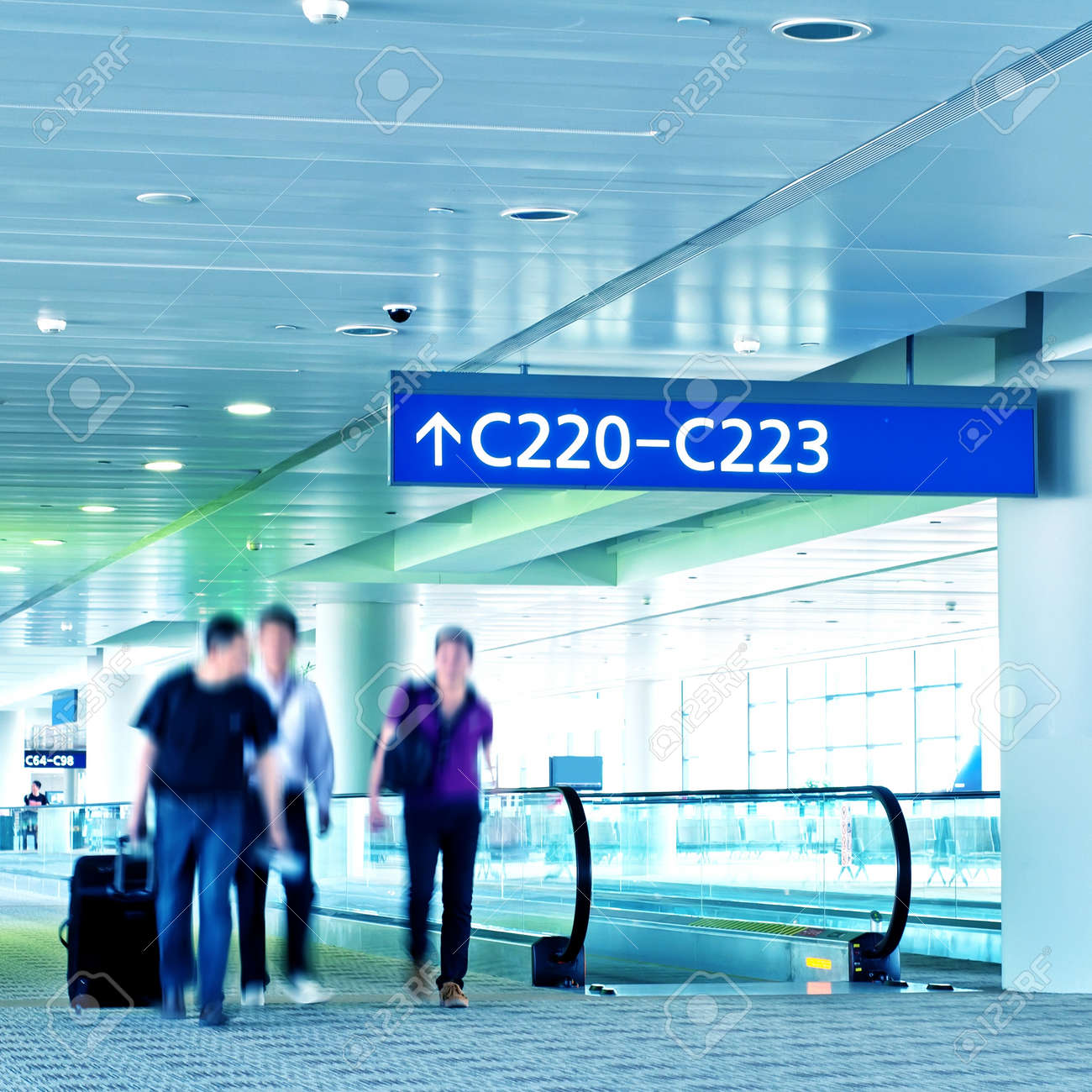 Interior of the shanghai airport,modern building concept. Stock Photo - 13096532