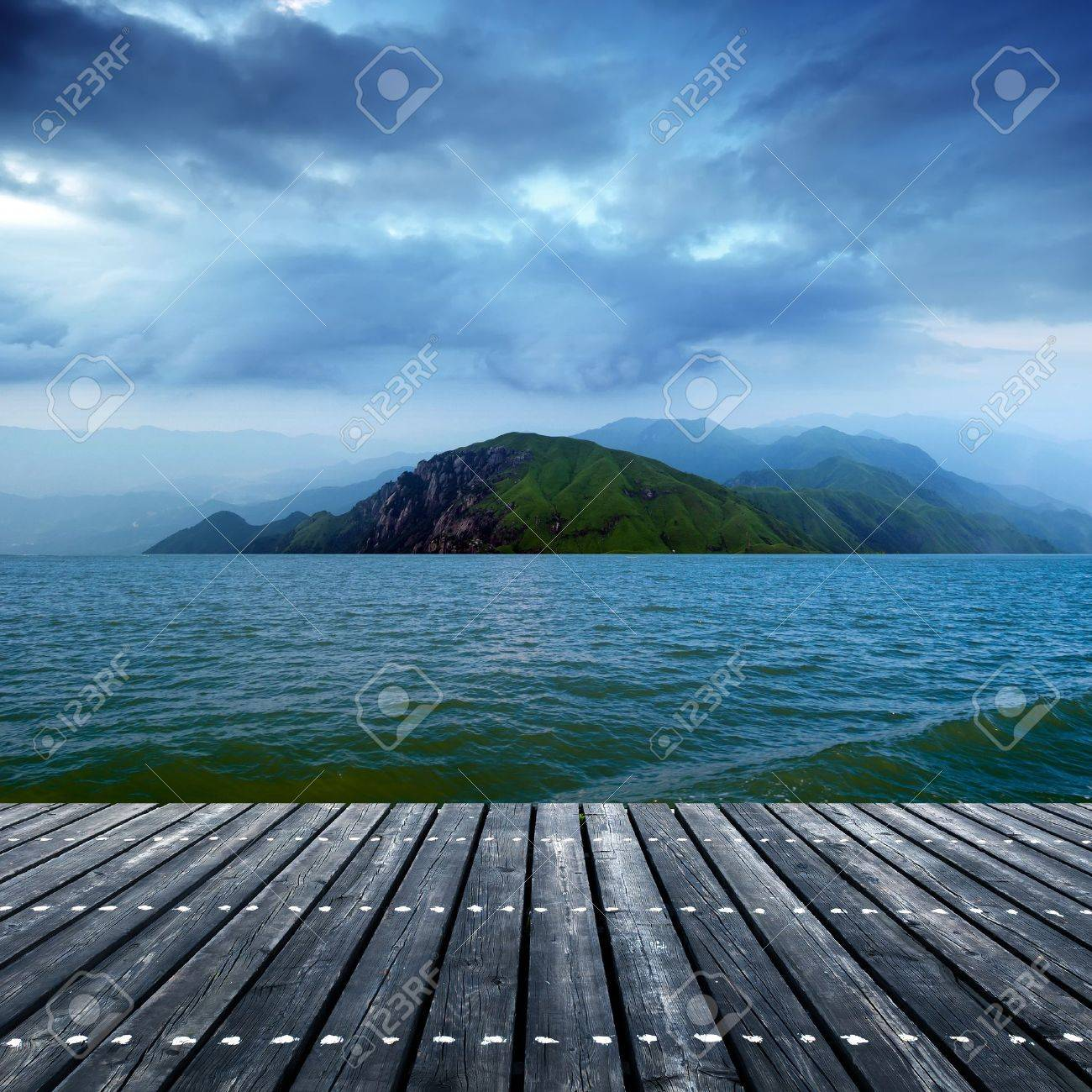 The wooden structures of offshore platforms Stock Photo - 15400860