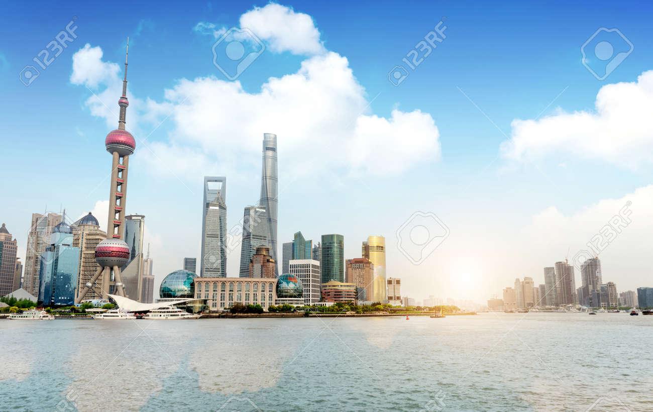 Modern city skyline, Shanghai, China - 40819425