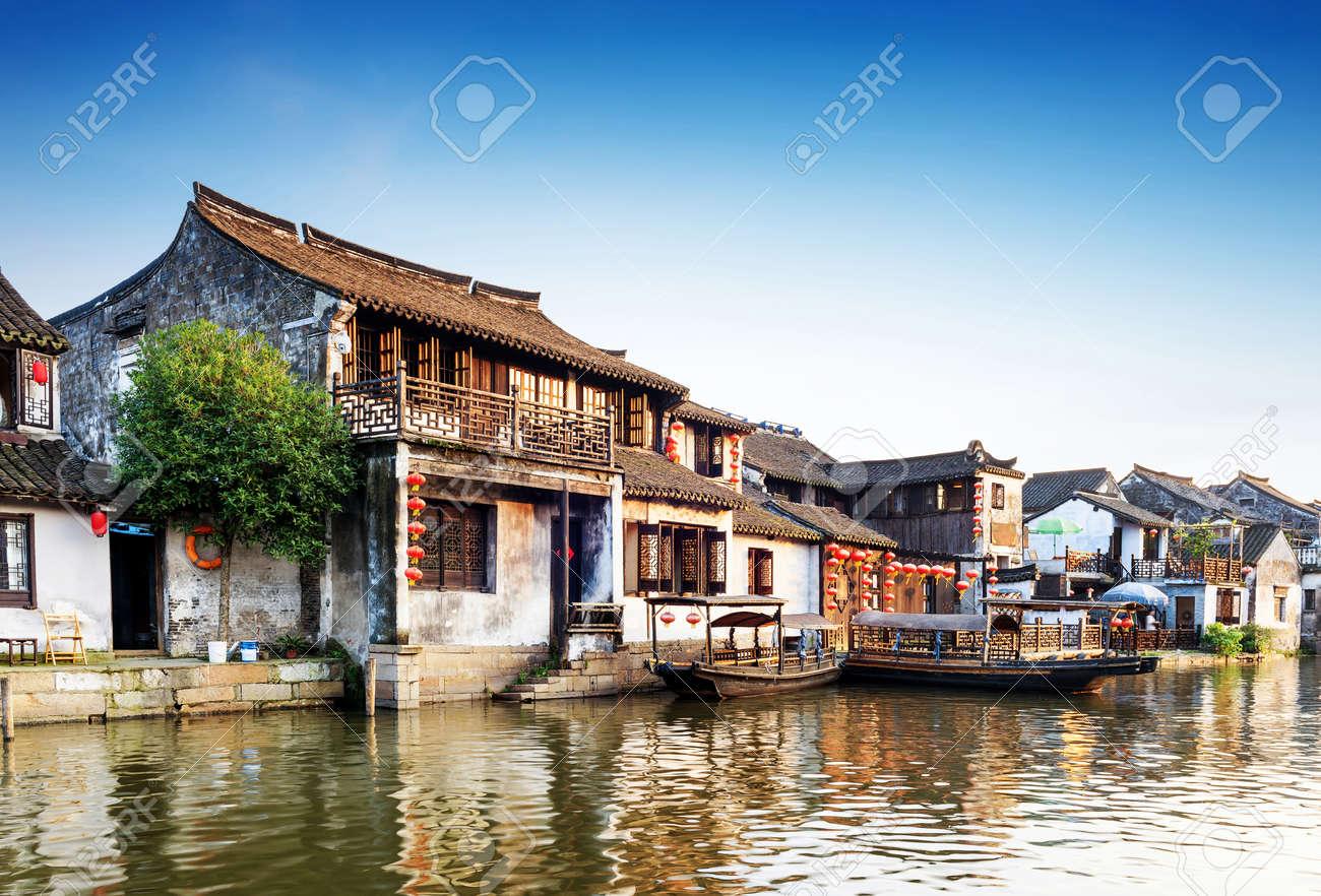 Xitang ancient town Standard-Bild - 42804572