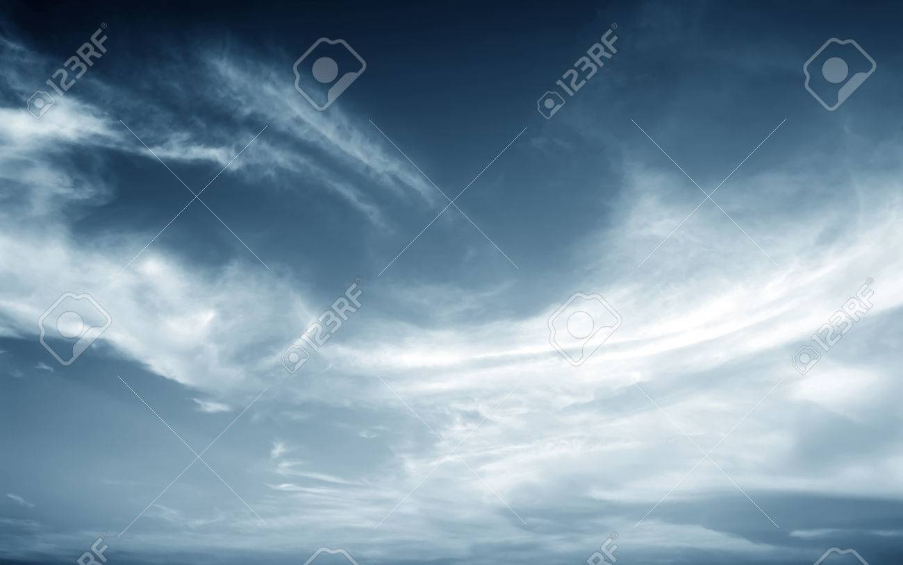 Background of dark clouds before a thunder-storm - 43844268