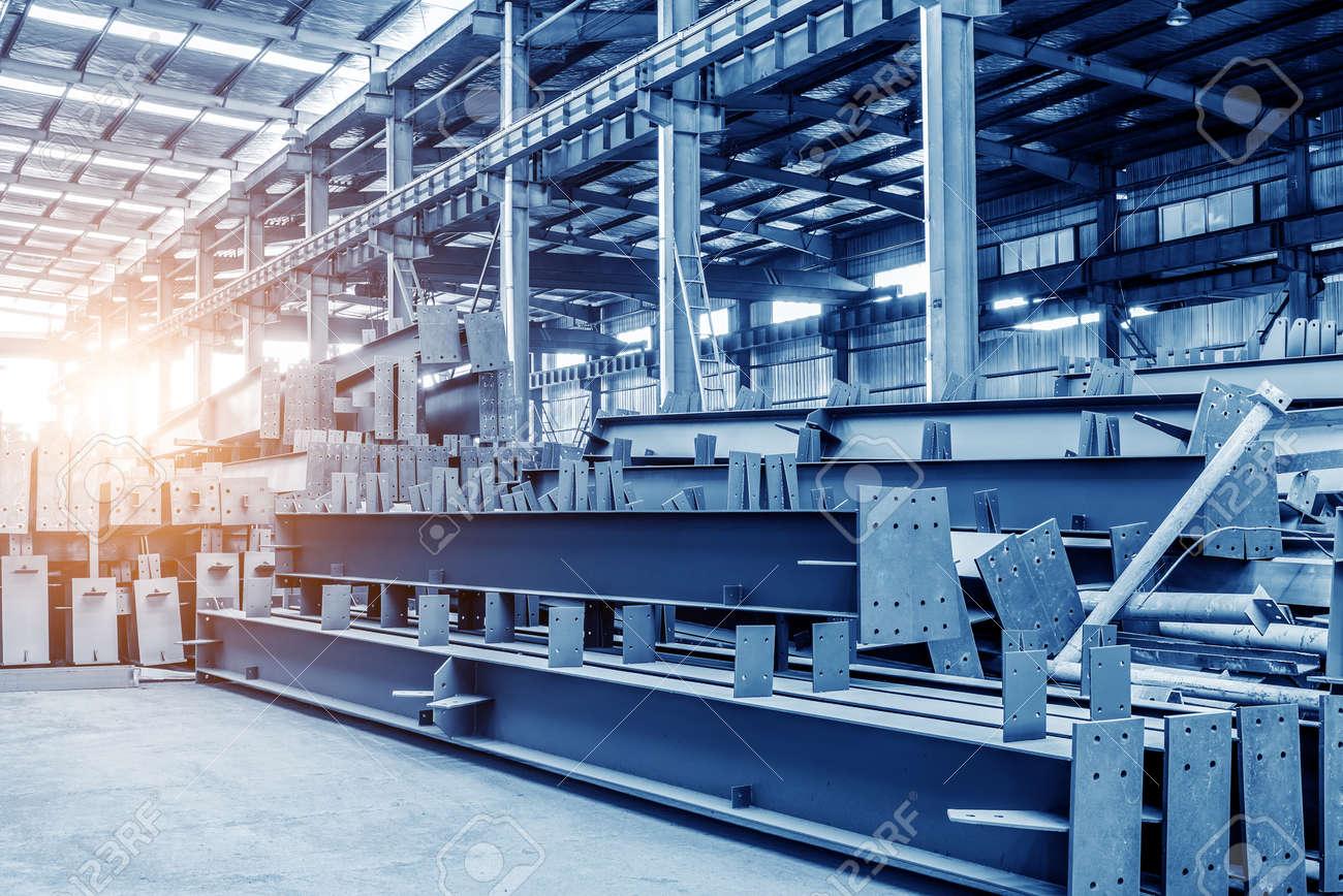 Large steel processing plant Standard-Bild - 44437993