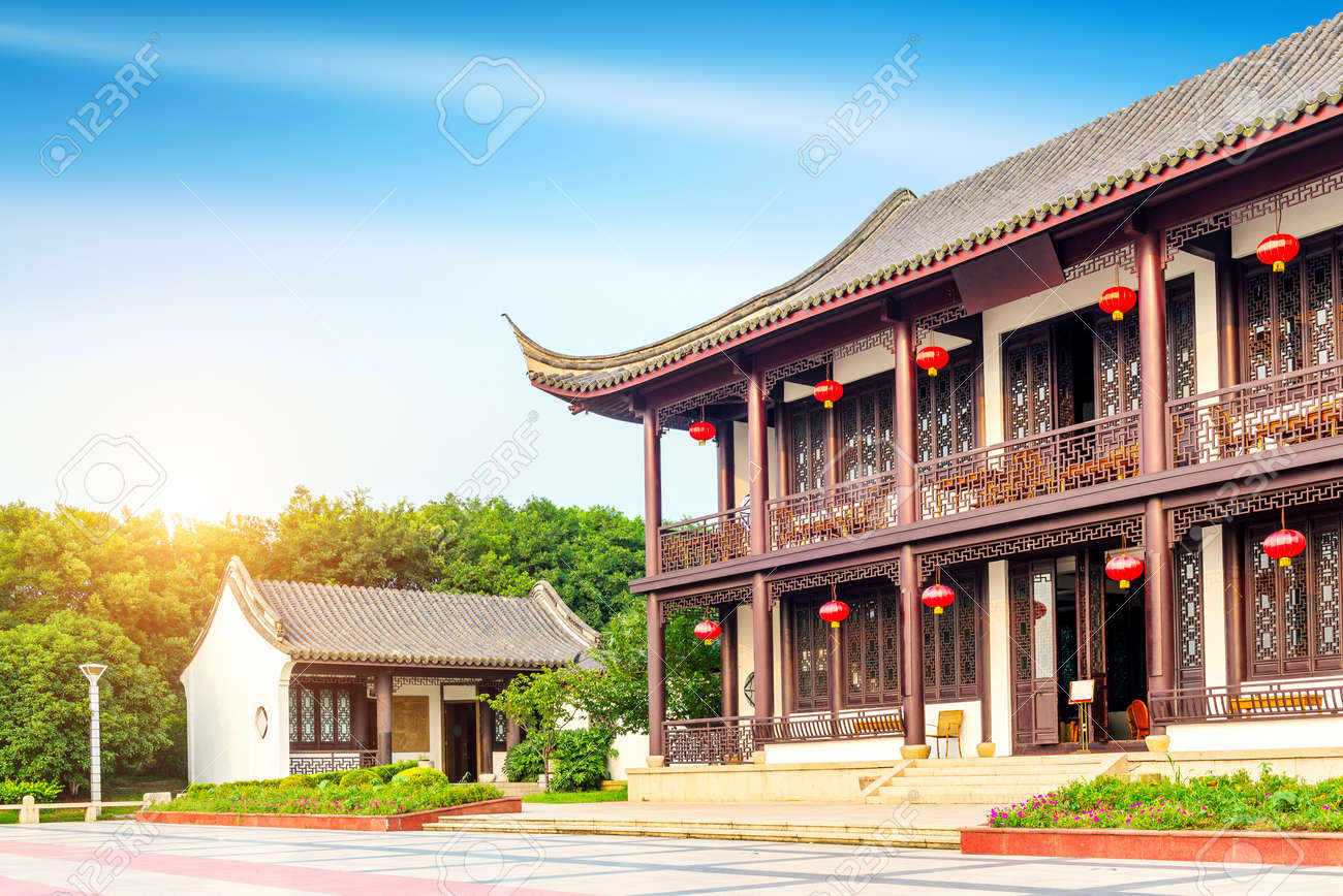 ancient buildings with ethnic characteristics china jiaxing stock