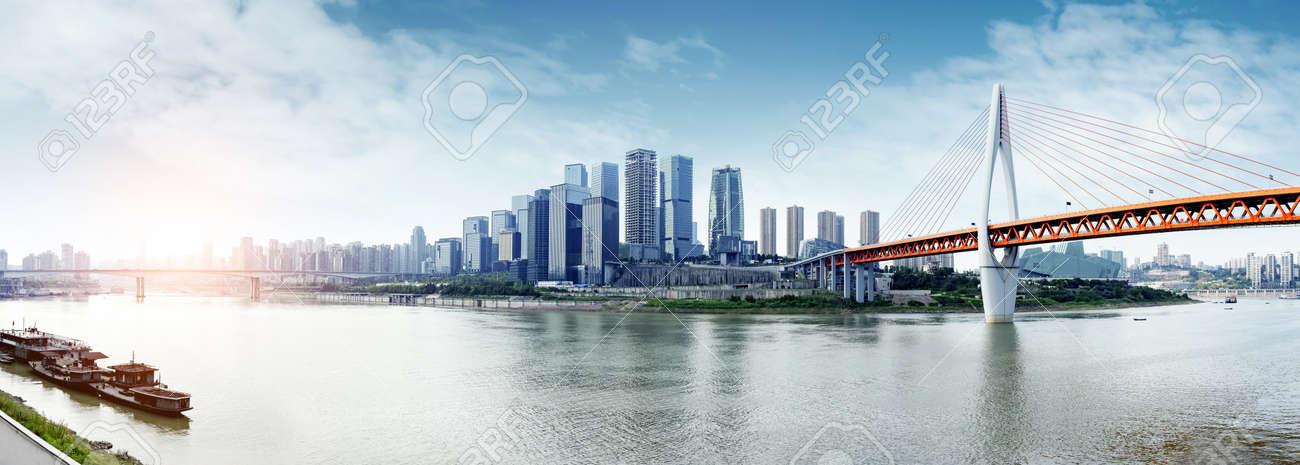 Modern metropolis skyline, Chongqing, China, Chongqing panorama. - 64844405