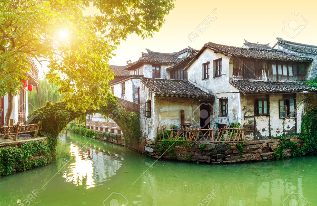 Zhouzhuang, China is a famous water town in the Suzhou area. There are many ancient towns in the south of the Yangtze River. - 107637003