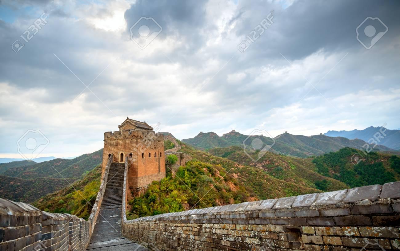 great wall, the landmark of china. - 122771367