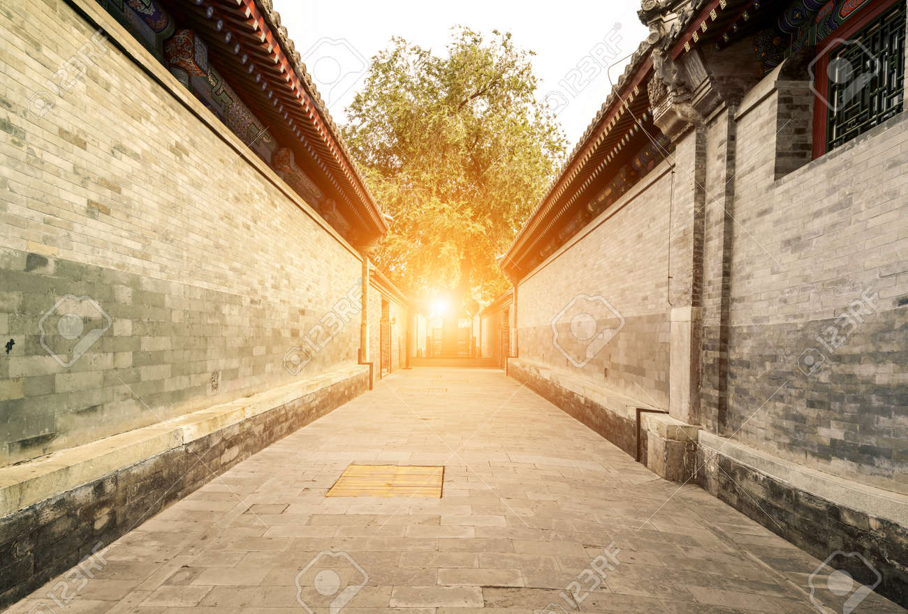 Traditional architecture and alleys in Beijing - 128803892