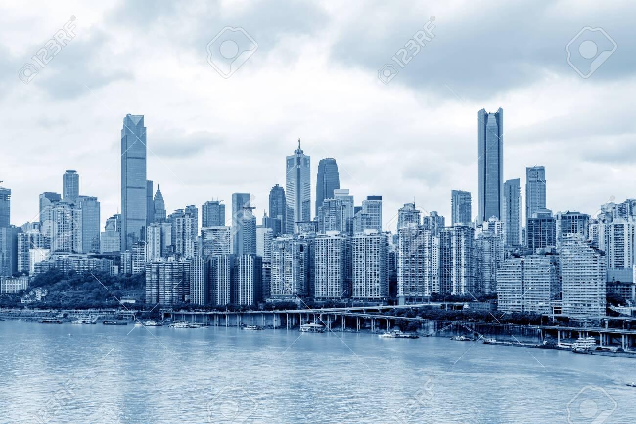 China Chongqing city skyline skyscrapers - 137542394