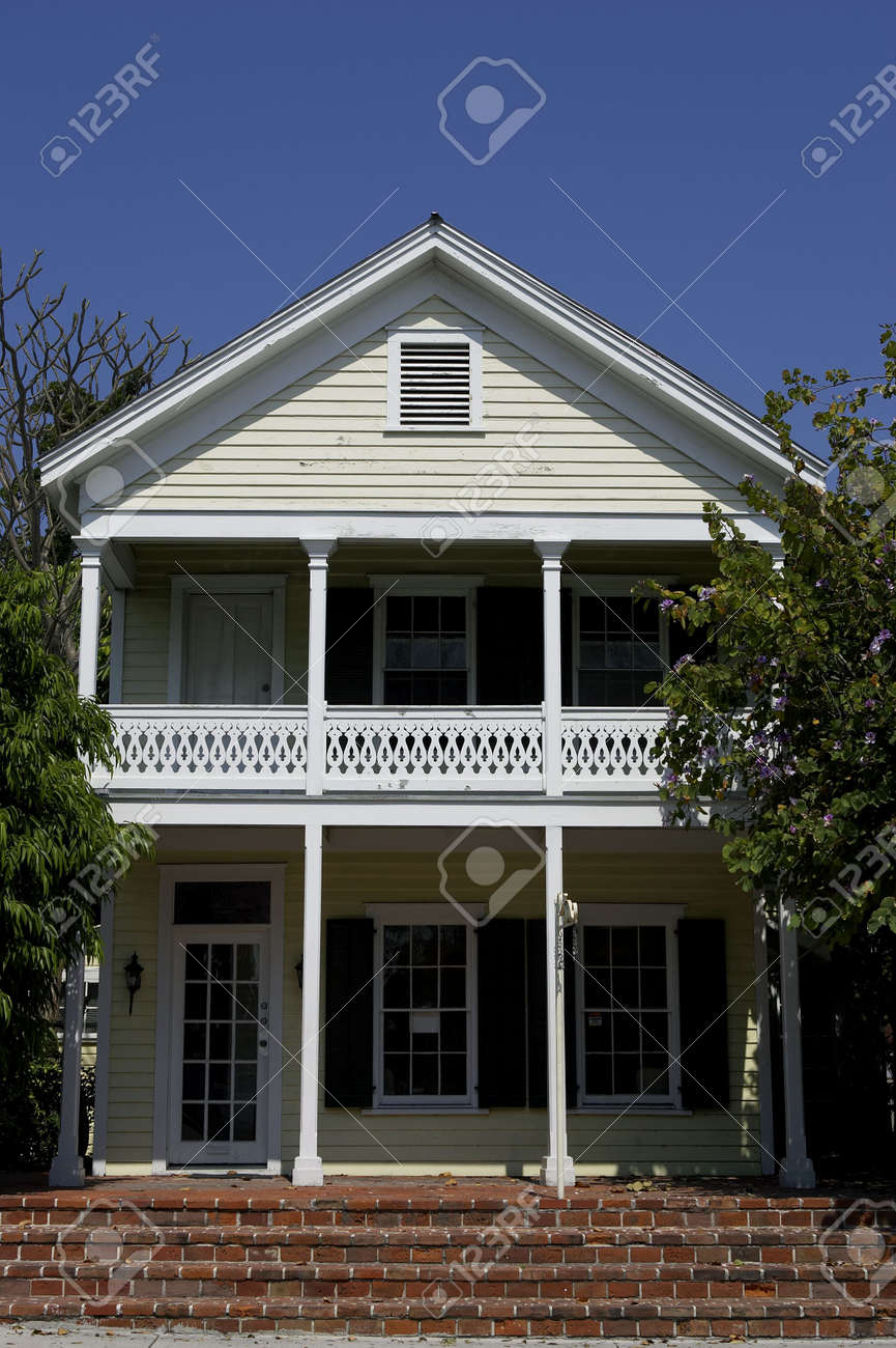 Front of house key west florida Stock Photo - 228009