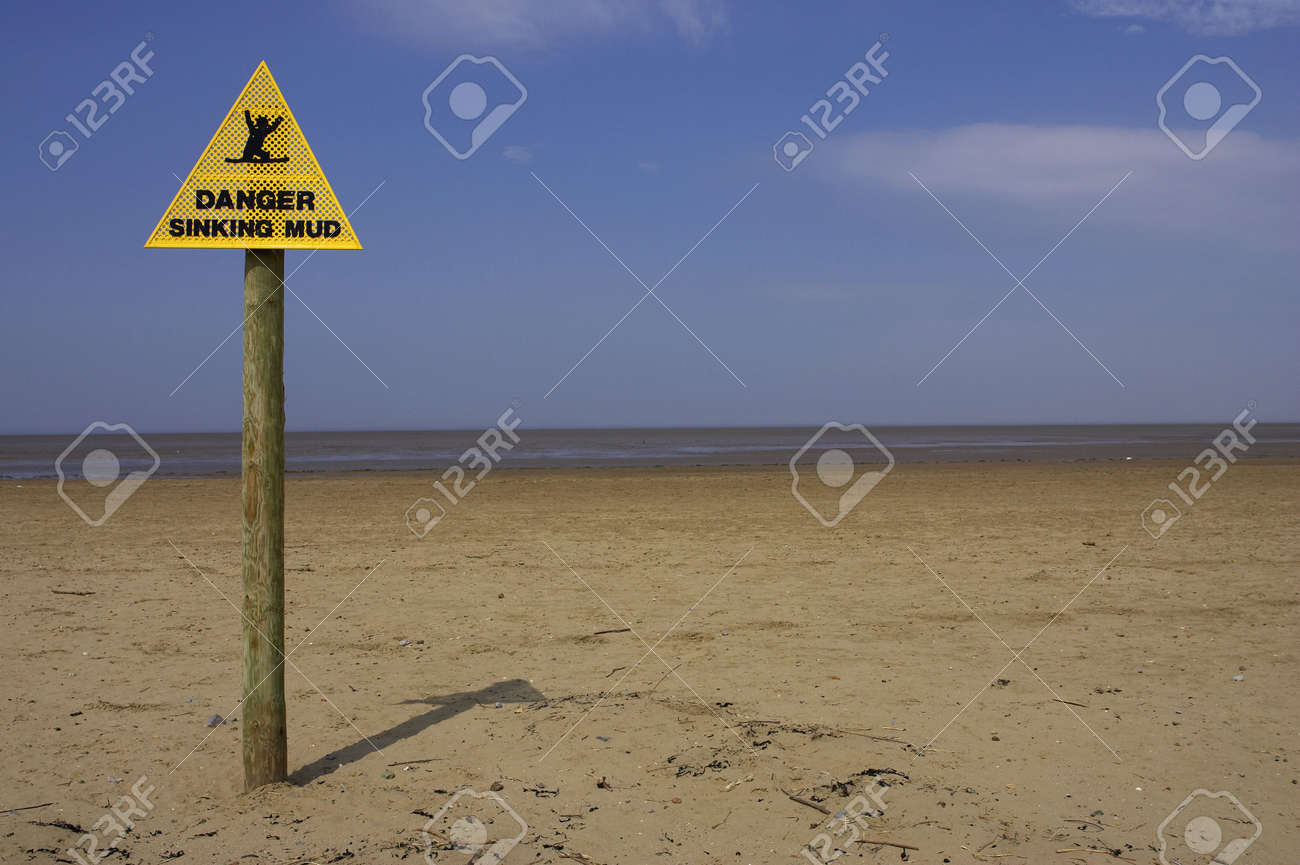 Beach Dangers Sand Sand Point Beach England
