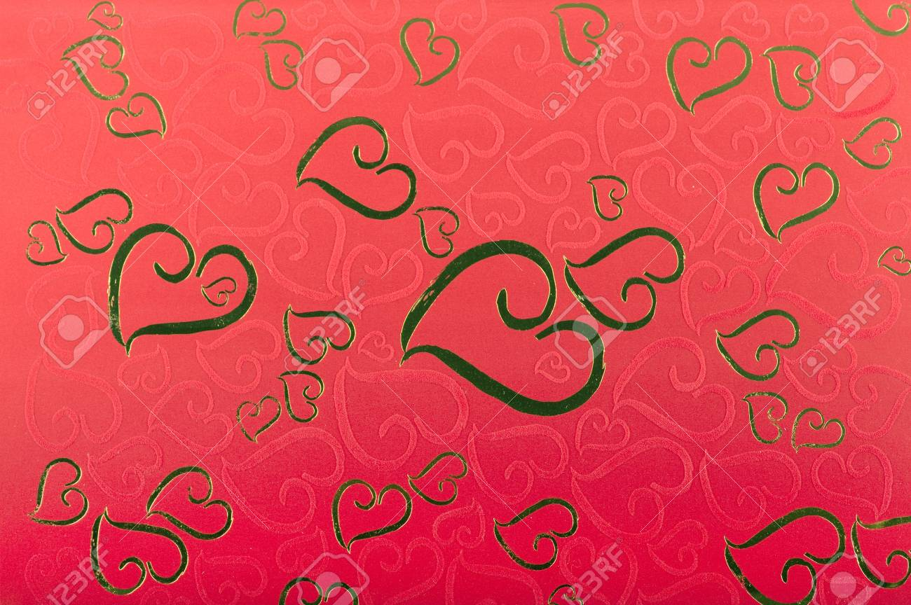 Red Valentine Background With many of hearts Stock Photo - 11449742