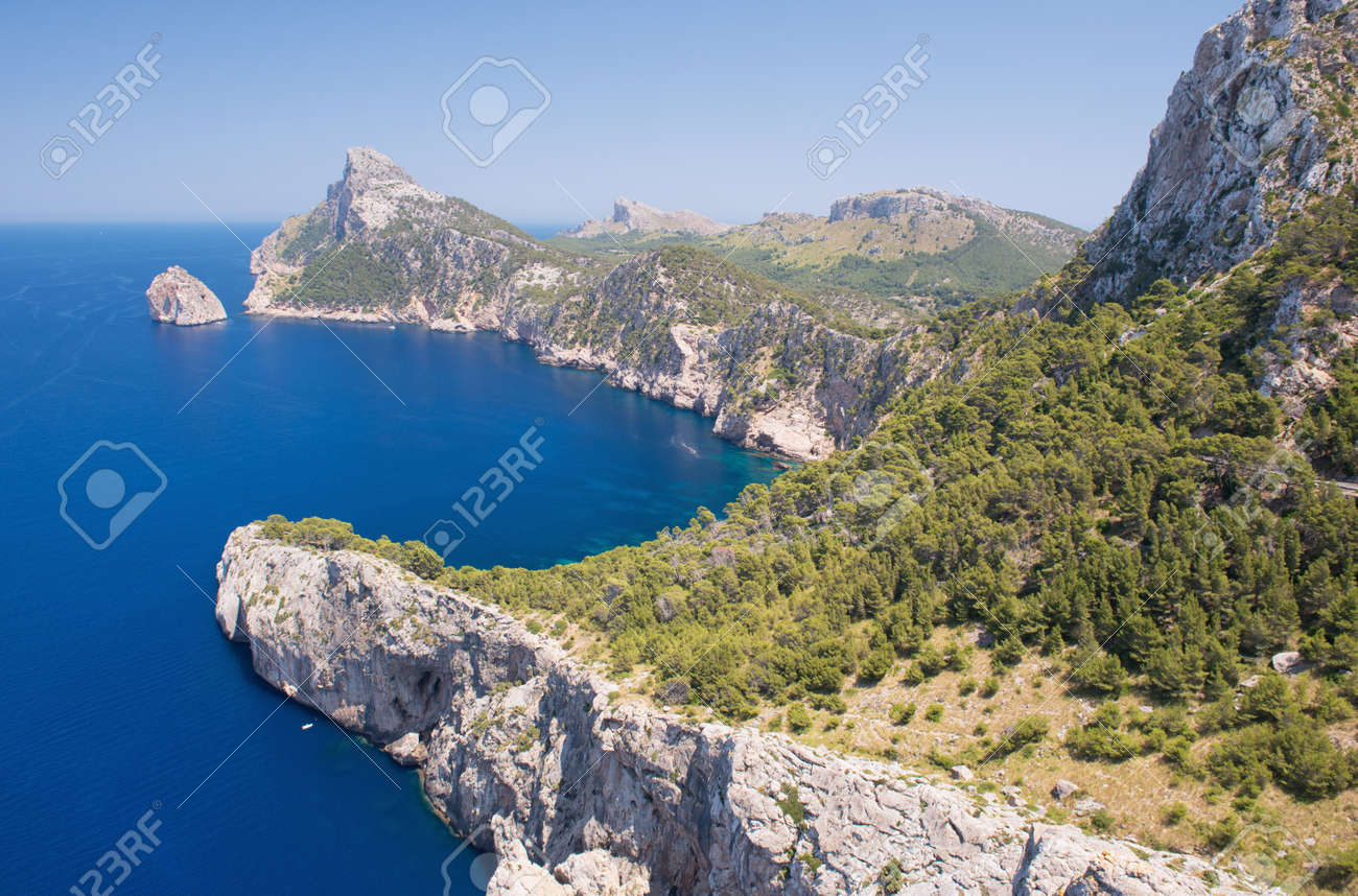 Cape Formentor in the Coast of North Mallorca, Spain   Balearic Islands Stock Photo - 21157591