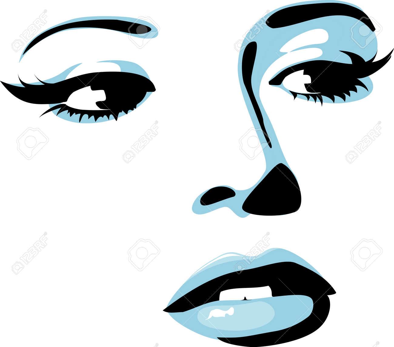Female face Stock Vector - 7127173