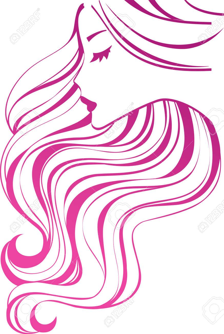 Girl with long hair  h...