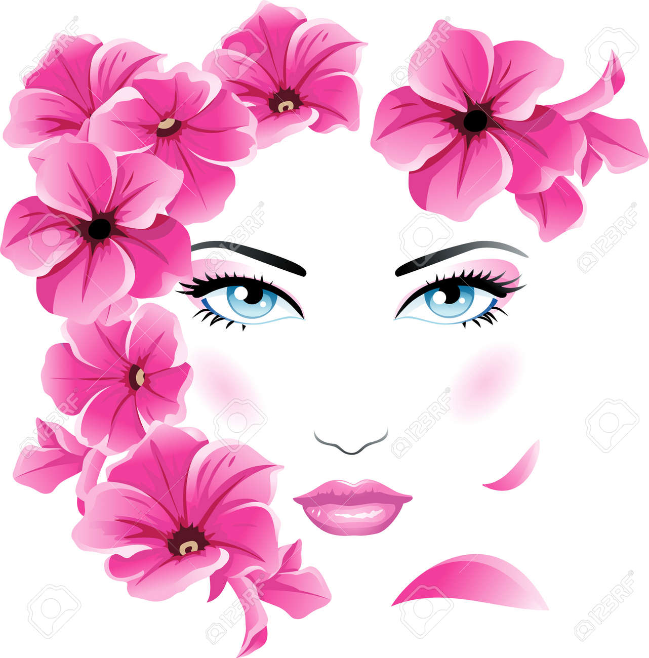 Beautiful woman with flowers royalty free cliparts vectors and beautiful woman with flowers stock vector 8432563 dhlflorist Gallery