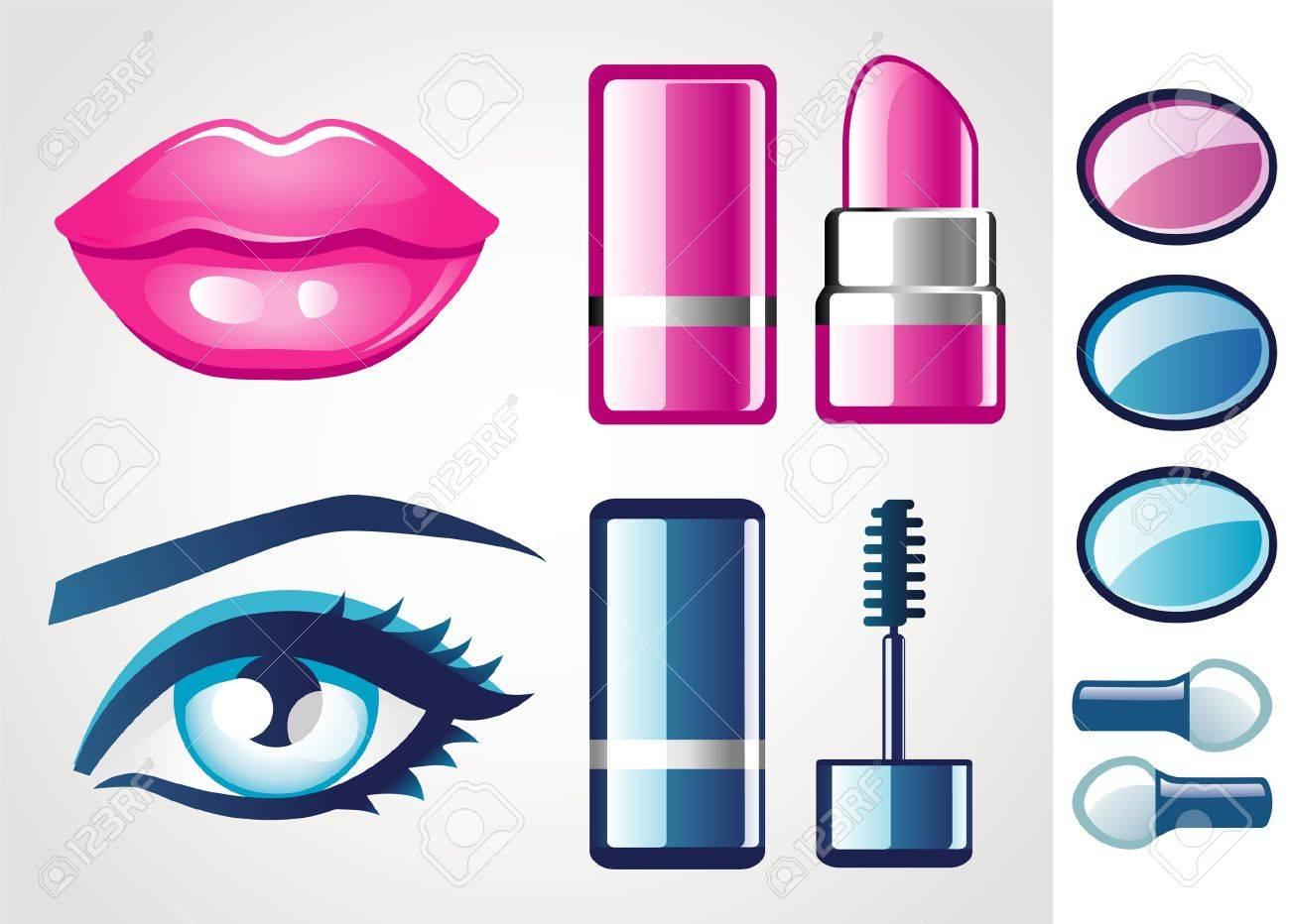 Beauty icon (lip and eye) Stock Vector - 10645390